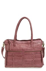 Day And Mood Unica Woven Leather Satchel Purple Dark Purple