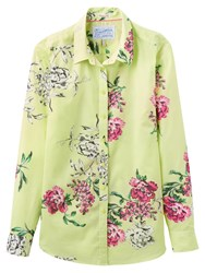Joules Maywell Semi Fitted Shirt Lime Floral