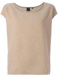 Aspesi Boat Neck Knitted Top Nude Neutrals