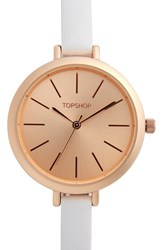 Topshop Women's Skinny Leather Strap Watch 36Mm