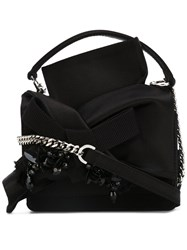 N 21 No21 Embellished Knot Cross Body Bag Women Leather One Size Black