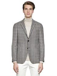 Lardini Textured Wool And Cotton Blend Jacket