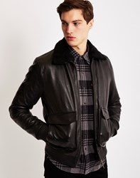 Nudie Jeans Tialle Leather Pile Jacket Black
