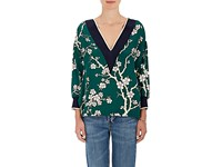 Warm Women's Tony Floral Twill Tunic Green No Color