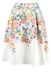 Yumi Botanical Aline Skirt Ivory Off White