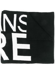 Versace Jeans Couture Knit Scarf Black