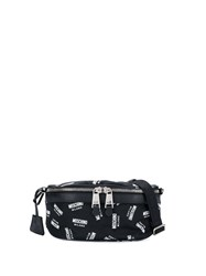 Moschino Monogram Belt Bag Black