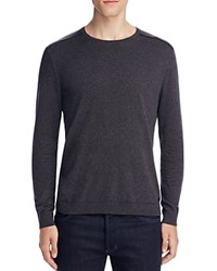 John Varvatos Star Usa Cotton Crewneck Sweater Chacoal Heather