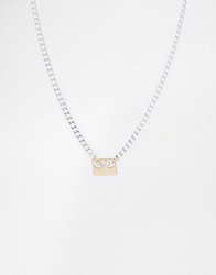 Cheap Monday Plate Necklace Silver