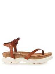 Stella Mccartney Altea Faux Leather Sandals Tan Multi