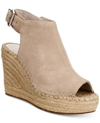 Kenneth Cole New York Women's Olivia Espadrille Peep Toe Wedges Women's Shoes Cream