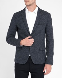 Ikks Charcoal Blurred Check Jacket