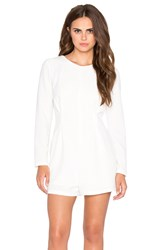 Lucca Couture Long Sleeve Romper White