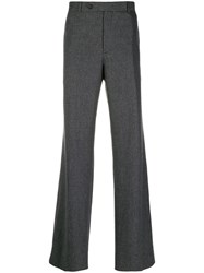 Helmut Lang Pinstripe Tailored Trousers Grey