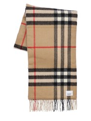 Burberry Printed Cashmere Logo Scarf Archive Beige