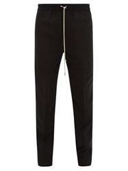 Rick Owens Astaires Drawstring Wool Blend Trousers Black