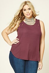 Forever 21 Plus Size Criscross Cutout Top