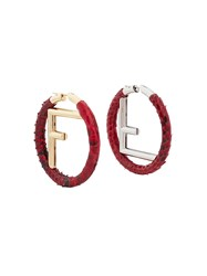 Fendi F Logo Hoops Red
