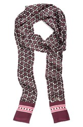 Kate Spade Women's New York Floral Tile Silk Skinny Scarf