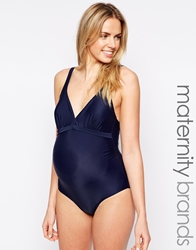 Mamalicious Maternity Padded Cup Swimsuit Navy