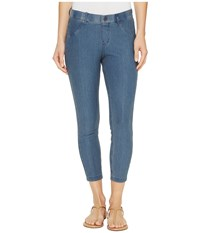 Hue Essential Denim Capris Stone Acid Wash Women's Jeans Blue