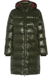 Duvetica Deneb Quilted Shell Down Coat Emerald