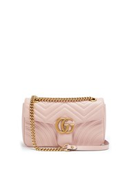 Gucci Gg Marmont Small Quilted Leather Shoulder Bag Light Pink