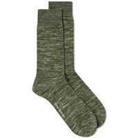 Oliver Spencer Dodd Marl Sock Green