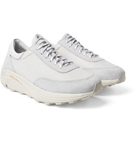 Our Legacy Mono Runner Suede And Mesh Sneakers White