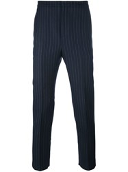 Golden Goose Deluxe Brand Pinstripe Trousers Blue