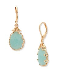 Lonna And Lilly Semi Precious Reconstituted Stone Pear Drop Earrings Turquoise