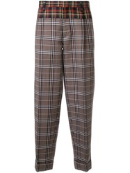 Kolor Contrast Checked Print Trousers 60