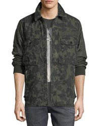 G Star Type C Camouflage Print Over Shirt Jacket Forest Night Blk