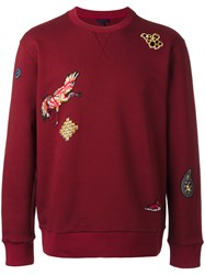 Lanvin Patched Sweatshirt Red