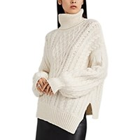A.L.C. Nevelson Chunky Cable Knit Sweater White
