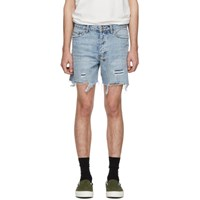 Ksubi Blue Denim Dagger Dan Shorts
