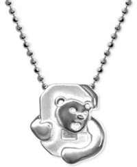 Little Collegiate By Alex Woo Cornell Pendant Necklace In Sterling Silver