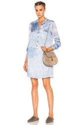 Raquel Allegra Empire Shirt Dress In Blue Ombre And Tie Dye Blue Ombre And Tie Dye