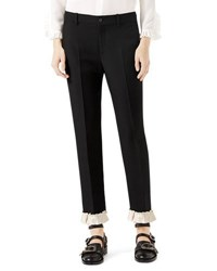 Gucci Cady Crepe Wool Suiting Pants White