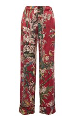 For Restless Sleepers Etere Floral Wide Pant Red