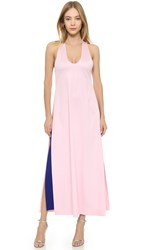 Josh Goot Layered Tank Dress Pink Cobalt
