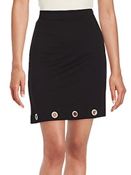 Kensie Solid Pencil Skirt Black