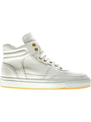 National Standard Lace Up Hi Top Sneakers White
