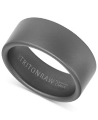 Triton Pure Raw Men's Wide Band In Tungsten Black