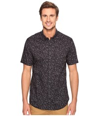 Billabong Marker Short Sleeve Woven Top Asphalt Men's Clothing Black