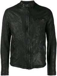 Salvatore Santoro Band Collar Zip Up Jacket Black