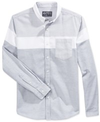 American Rag Men's Gilroy Blocked Shirt Only At Macy's Flintstone