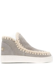 Mou Summer Eskino Perforated Sneakers Grey
