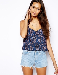 Glamorous Sleeveless Top In Floral Print Multi
