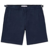 Orlebar Brown Norwich Slim Fit Linen Shorts Navy